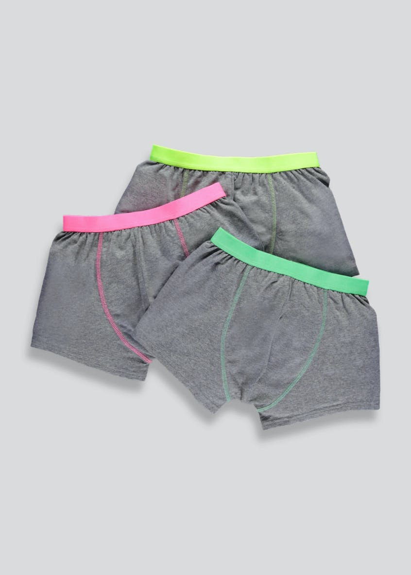 Boys 3 Pack Neon Trunks (2-13yrs)