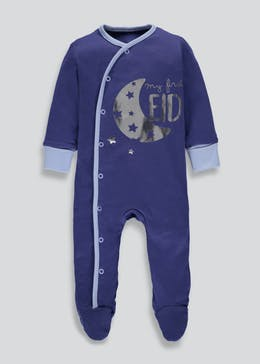 Unisex My First Eid Sleepsuit (Tiny Baby-9mths)