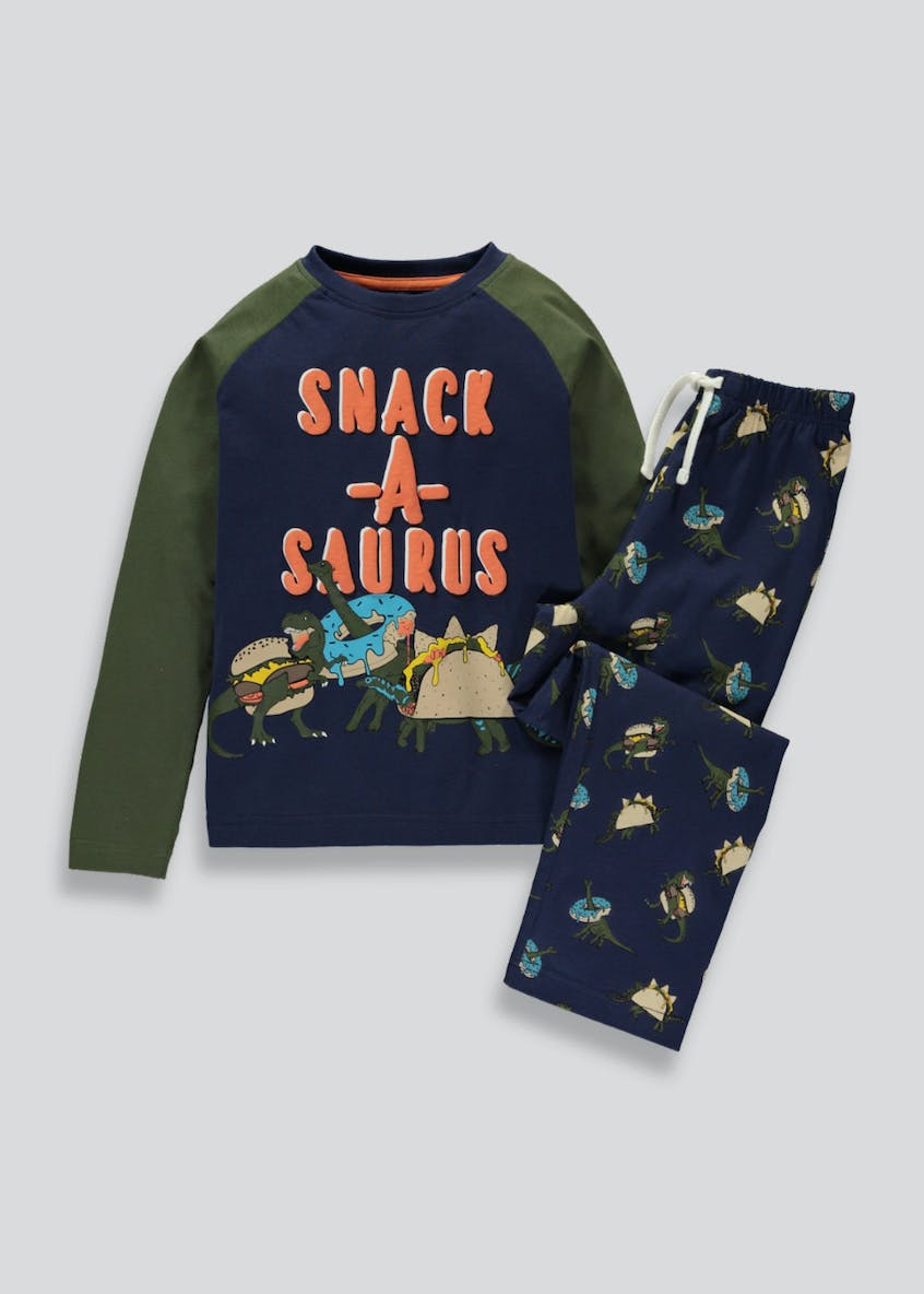 Boys Snack-A-Saurus Pyjama Set (4-13yrs)