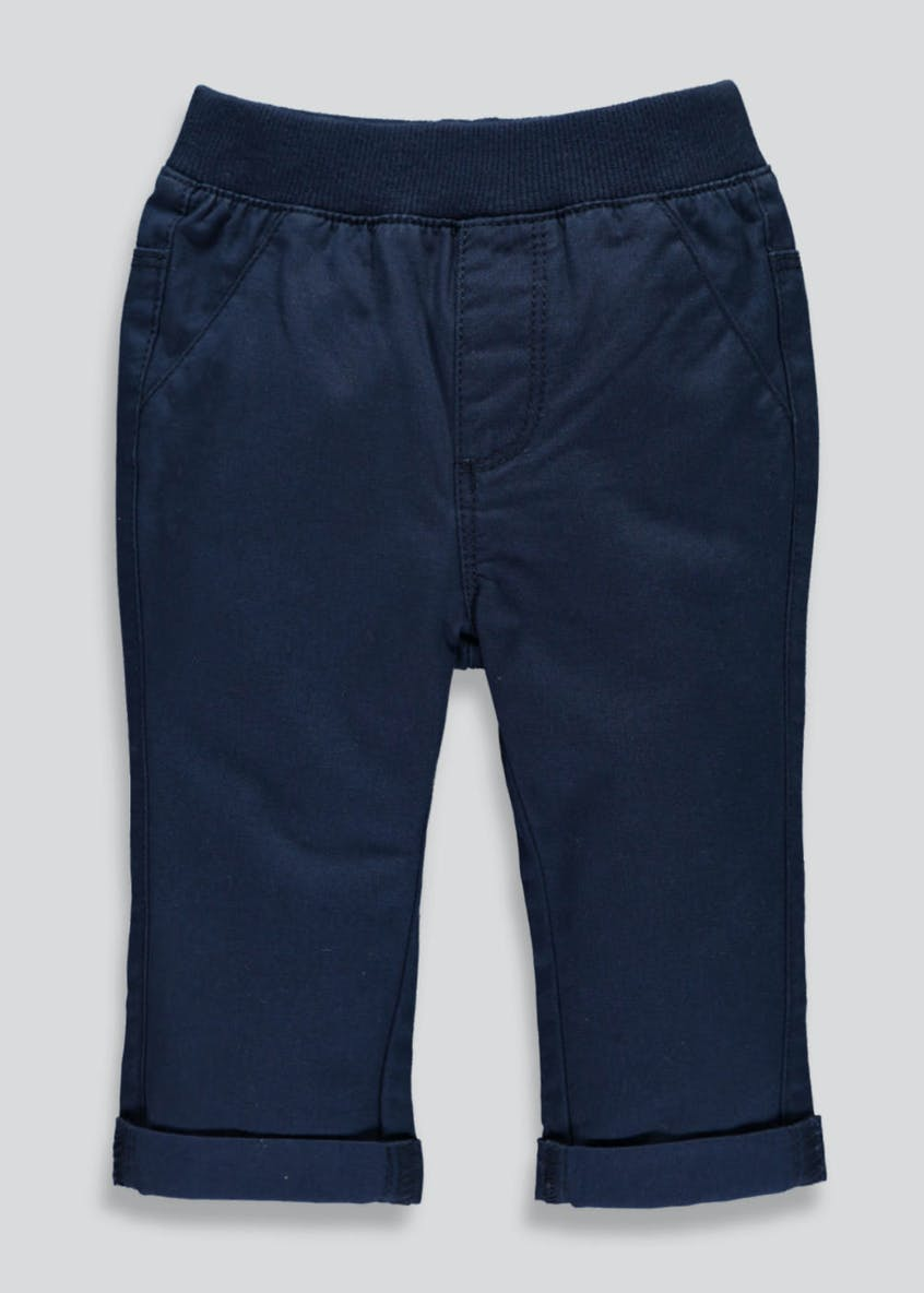 Boys Turn Up Chino Trousers (Newborn-18mths)