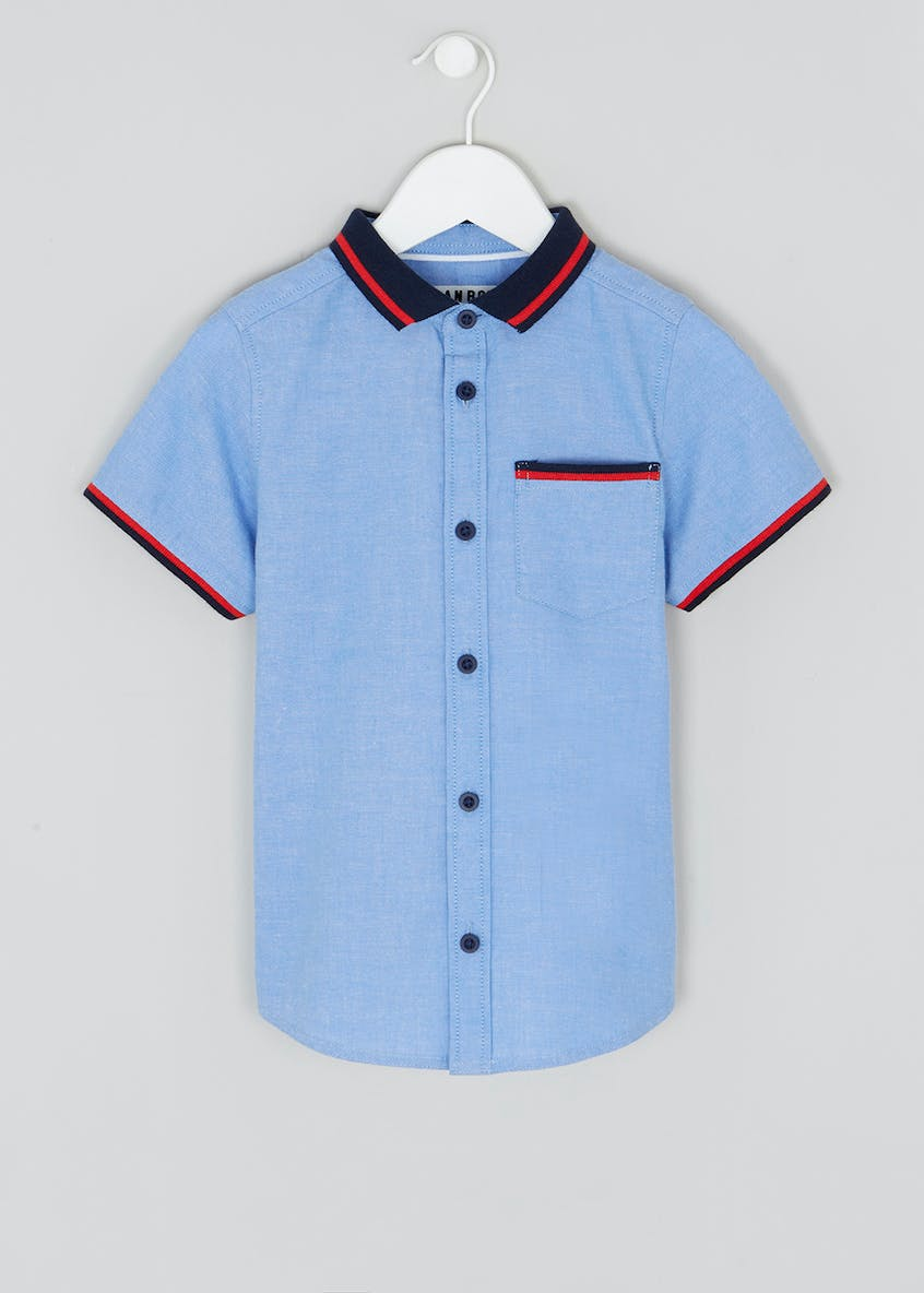 Boys Short Sleeve Chambray Shirt (4-13yrs)