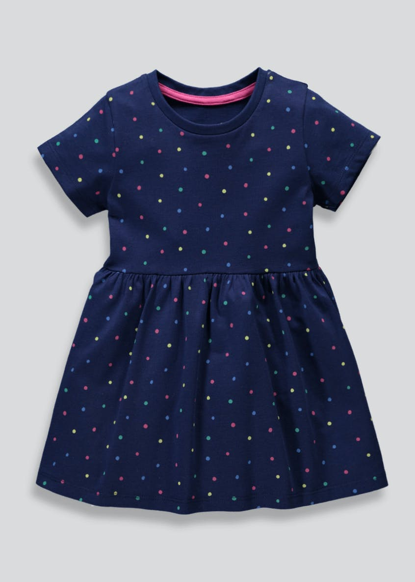 Girls Spot Jersey Dress (3mths-6yrs)
