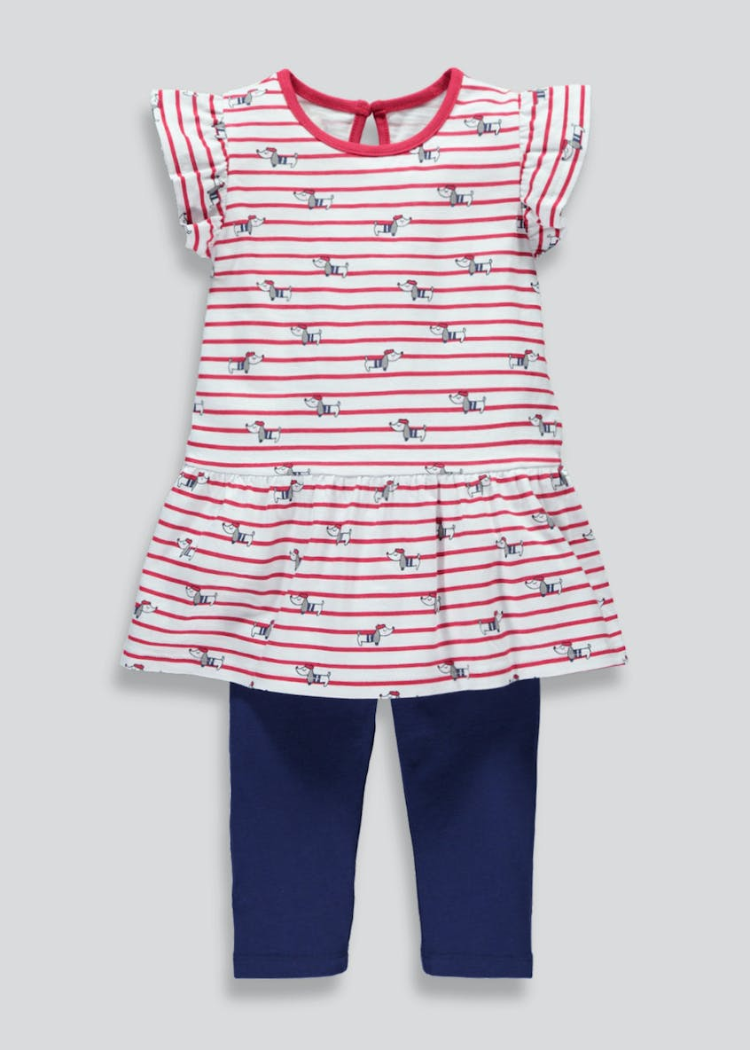 Girls Stripe Top & Leggings Set (3mths-6yrs)
