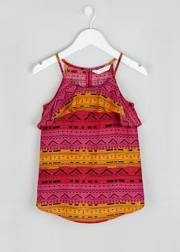 Girls Candy Couture Aztec Frill Cami Top (9-16yrs)