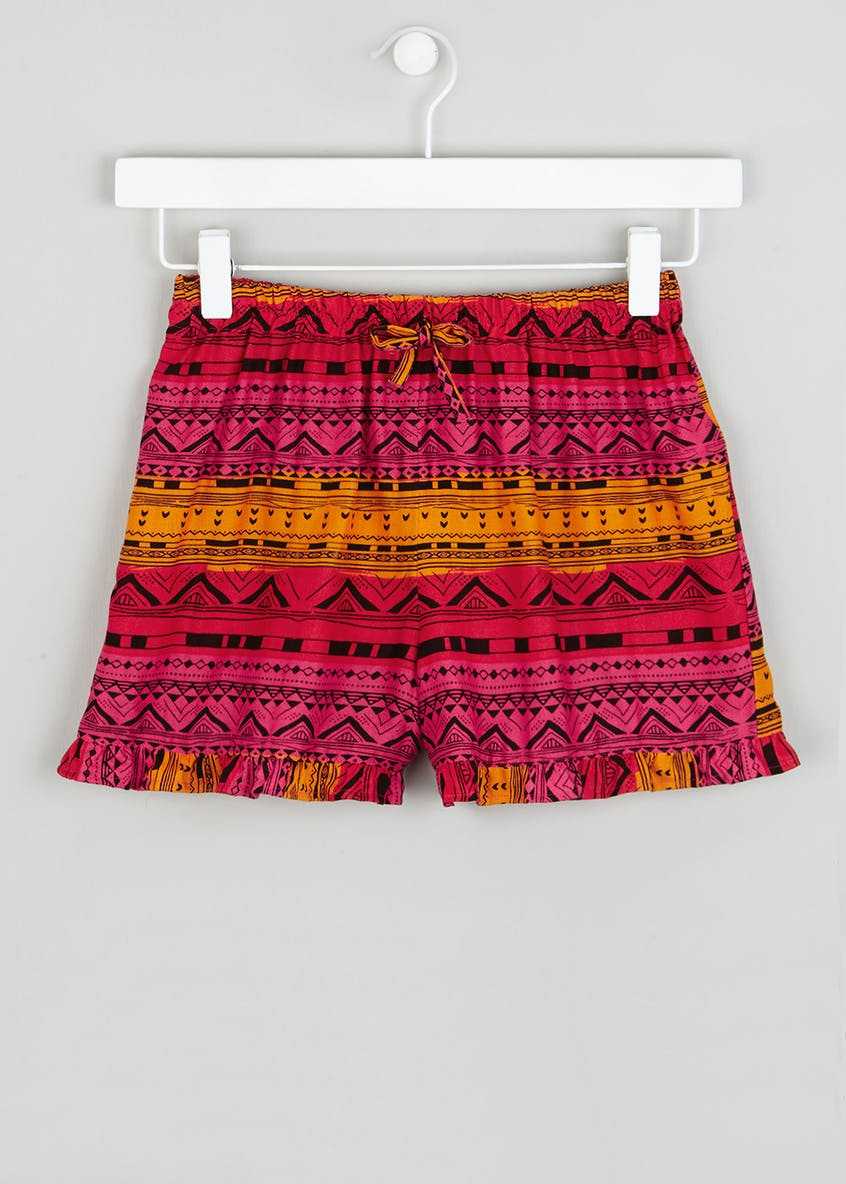 Girls Candy Couture Aztec Frill Shorts (9-16yrs)
