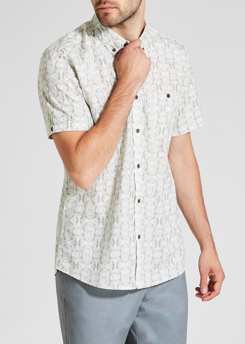 Short Sleeve Batik Print Shirt