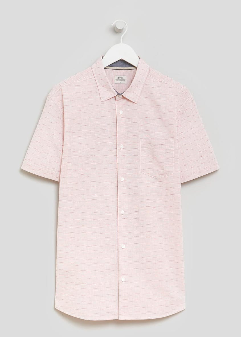 Short Sleeve Textured Dobby Shirt