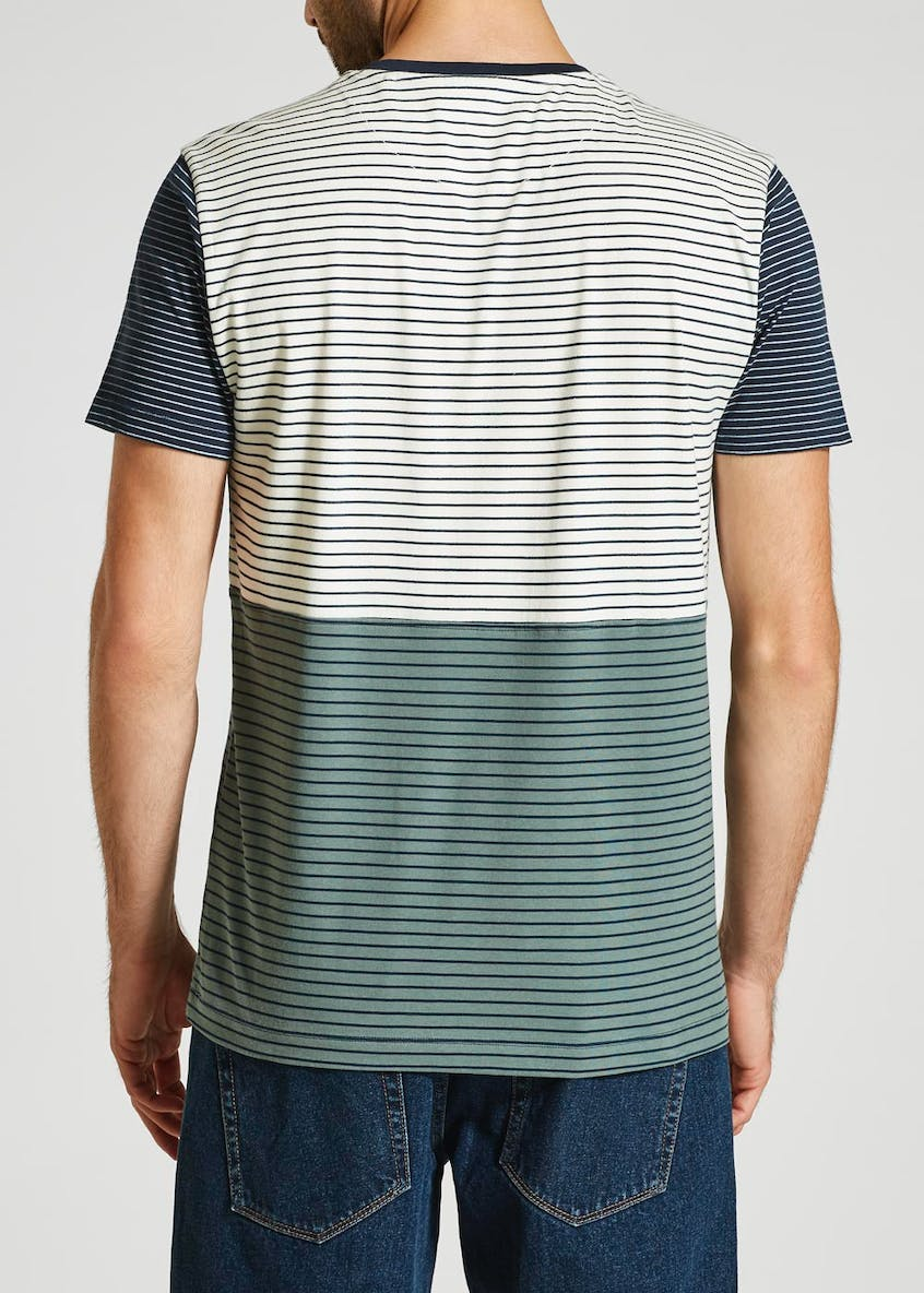 Stripe Panel T-Shirt
