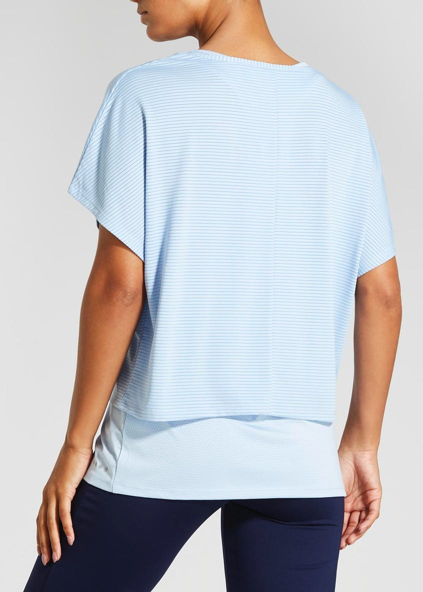 Souluxe 2 in 1 Striped Sports Top