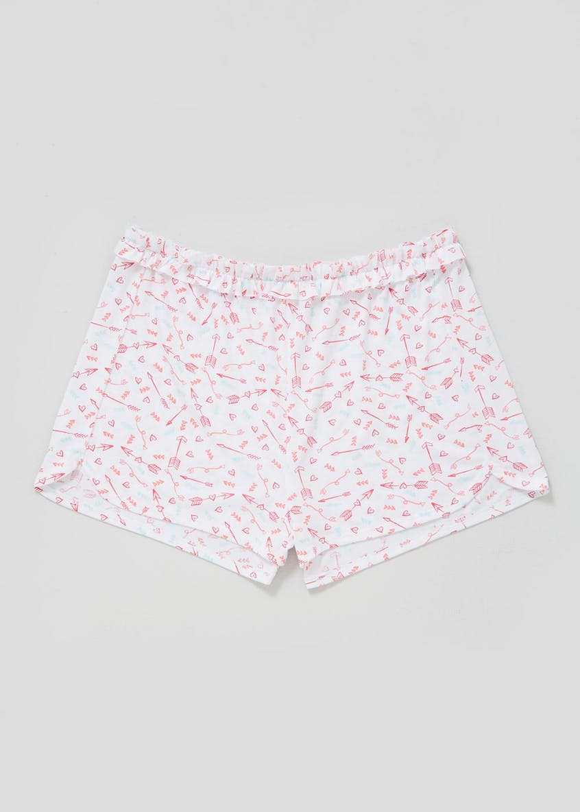 Mix & Match Arrow Print Ruffle Pyjama Shorts