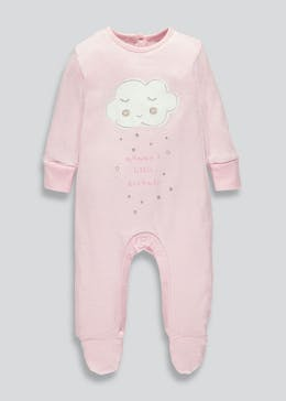 Girls Mummy?s Dreamer Slogan Sleepsuit (Tiny Baby-9mths)