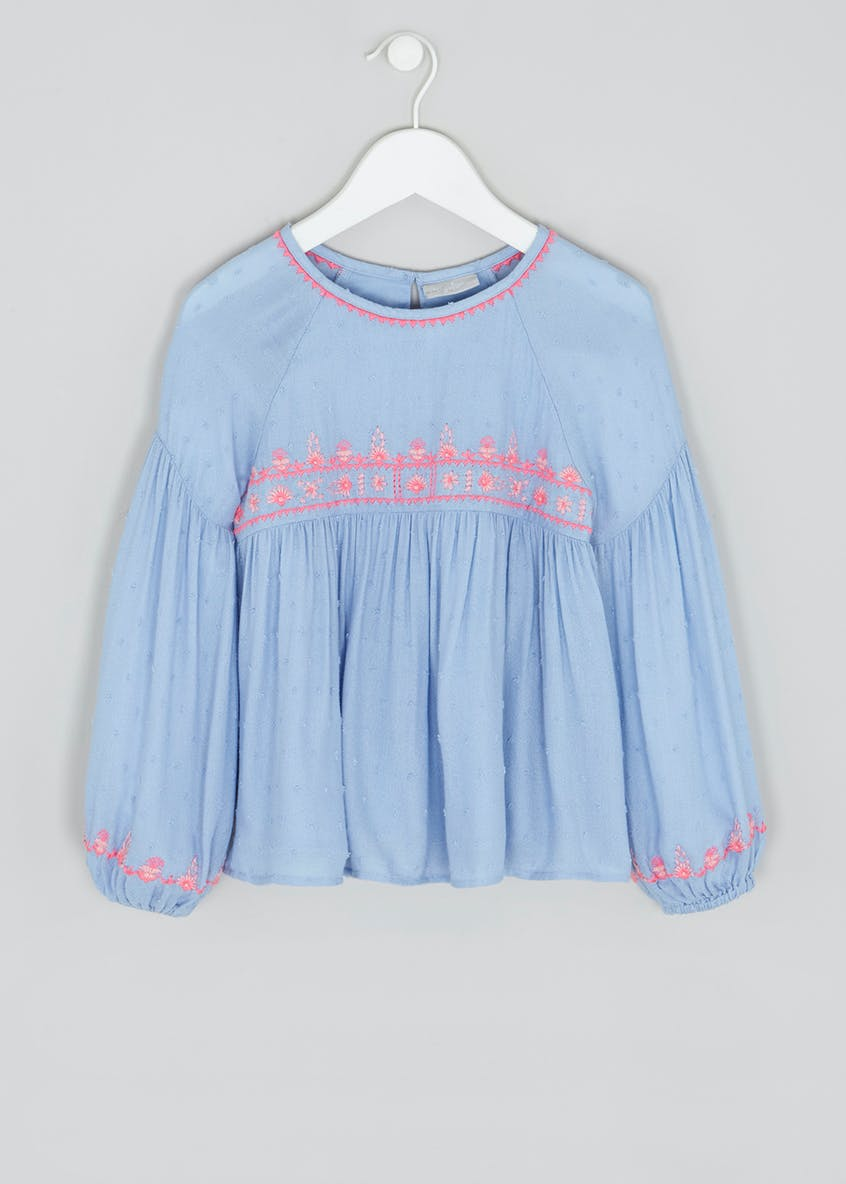 Girls Embroidered Woven Blouse (4-13yrs)