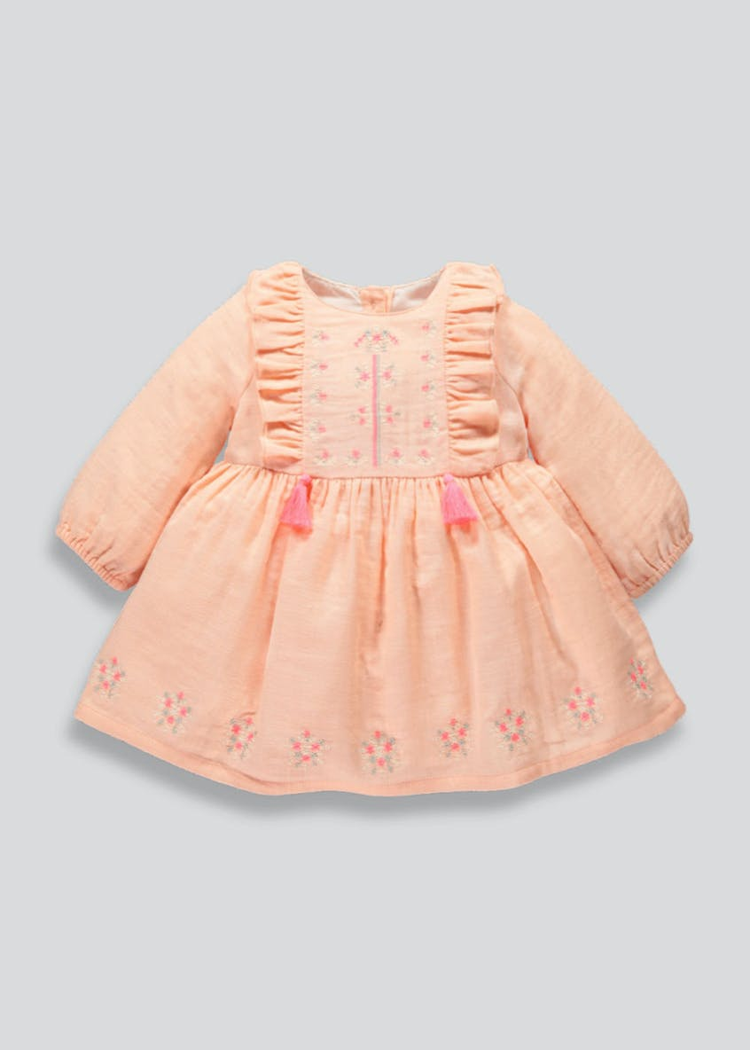 Girls Embroidered Tassel Dress (Newborn-18mths)