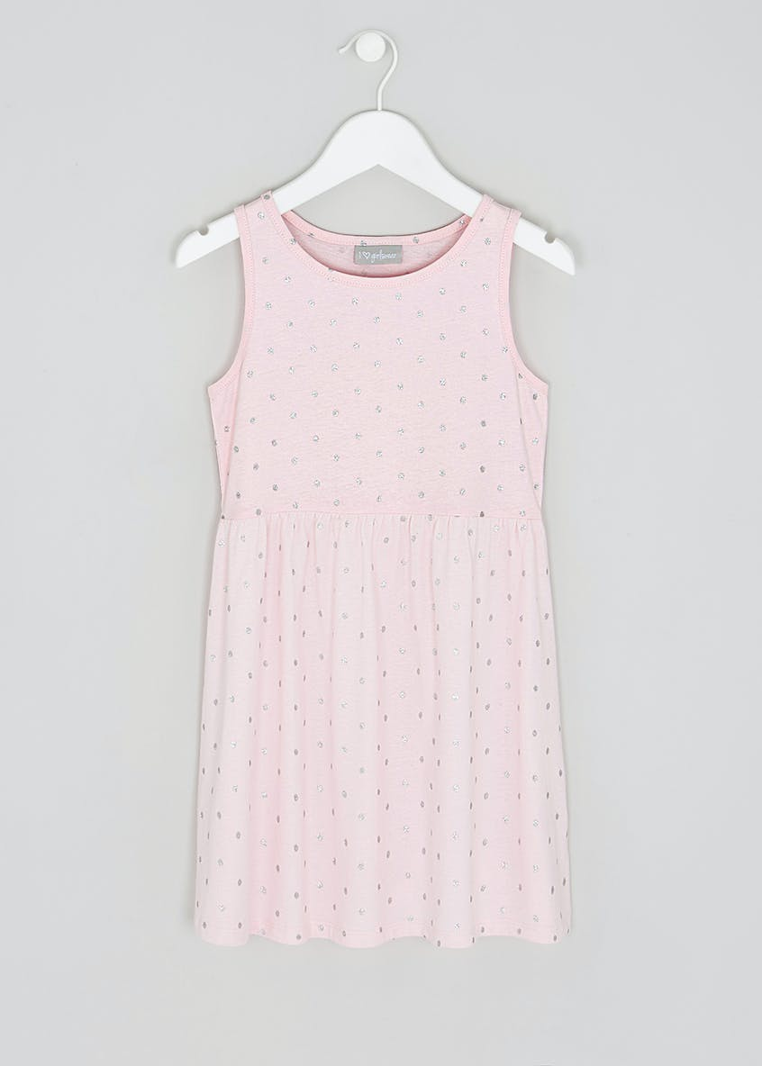 Girls Glitter Spot Jersey Dress (4-13yrs)