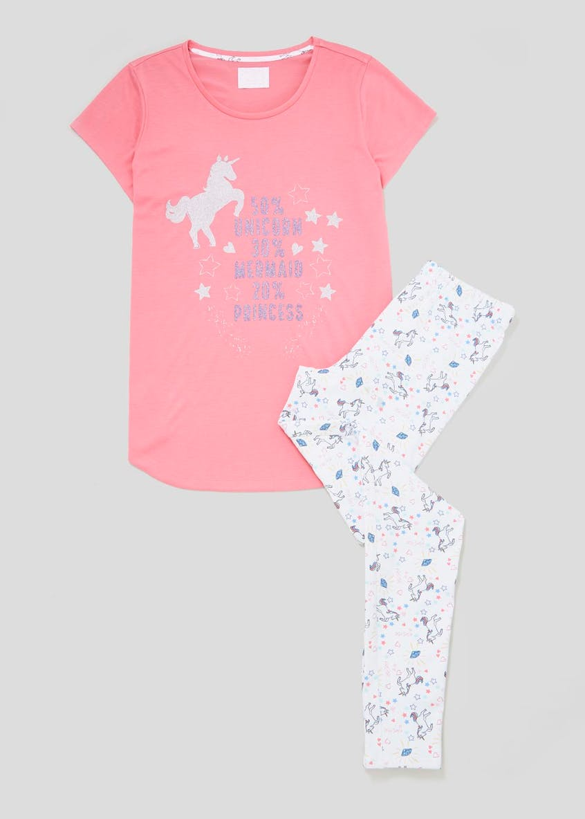 Unicorn Mermaid Princess Pyjama Set