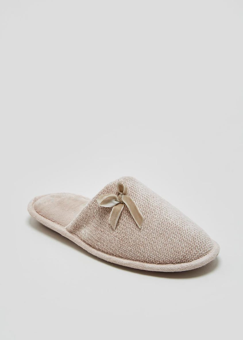 Lightweight Chenille Mule Slippers