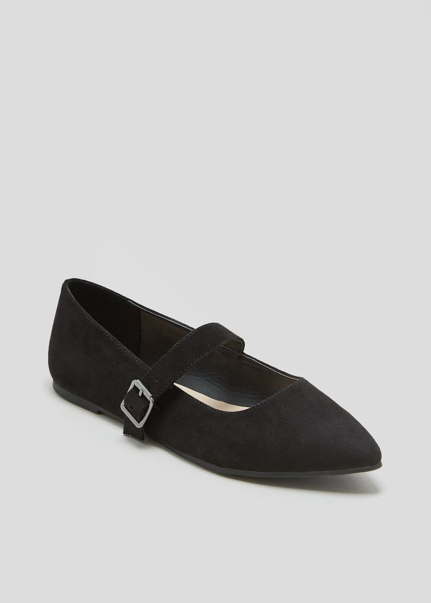 Buckle Pointed Ballet Shoes