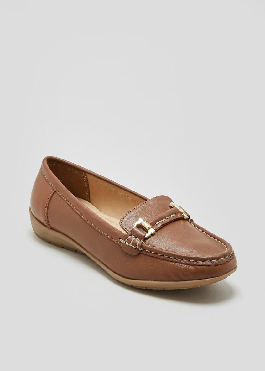 Soleflex Real Leather Snaffle Loafers