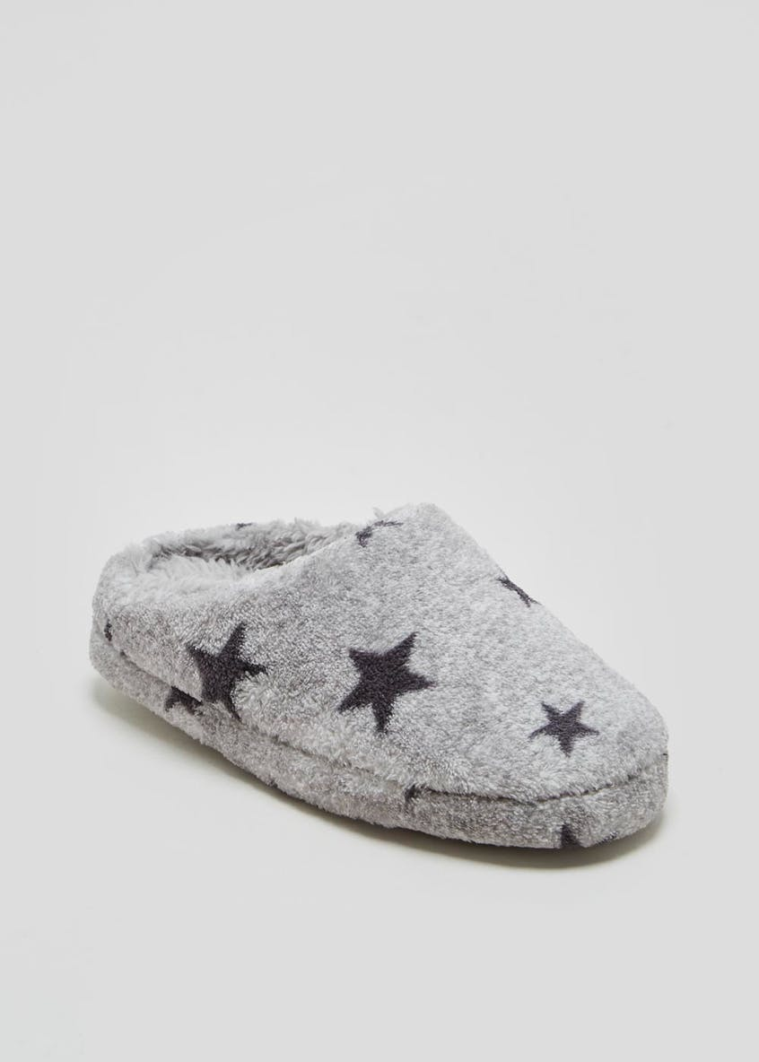 Boys Star Mule Slippers (Younger 10-Older 6)