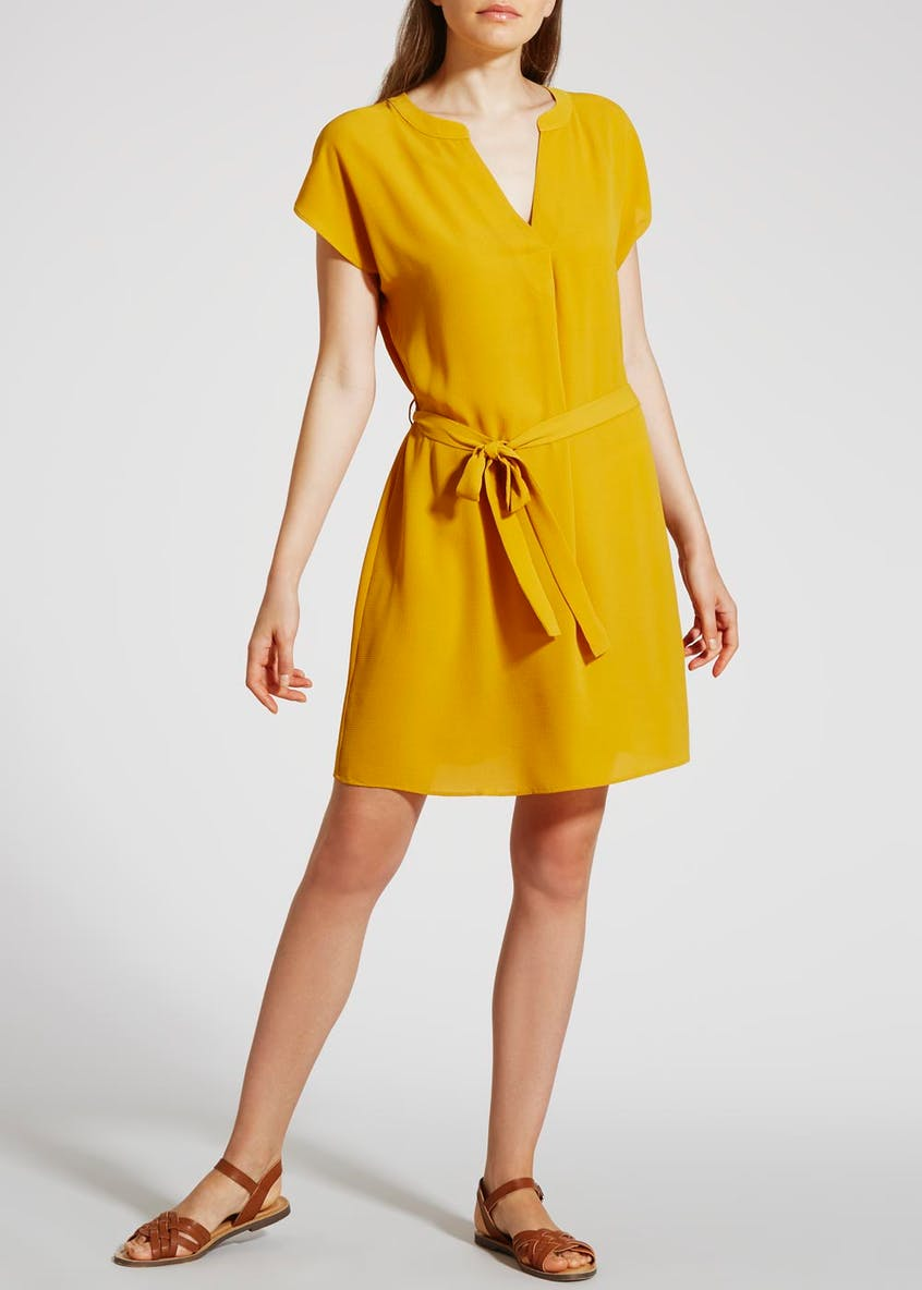 Grandad Collar Shirt Dress