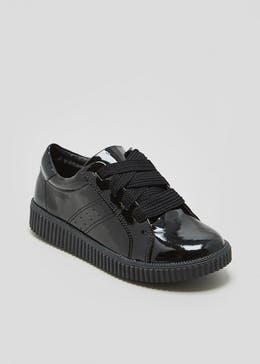 Girls Patent Lace Up Creepers (Younger 13-Older 5)