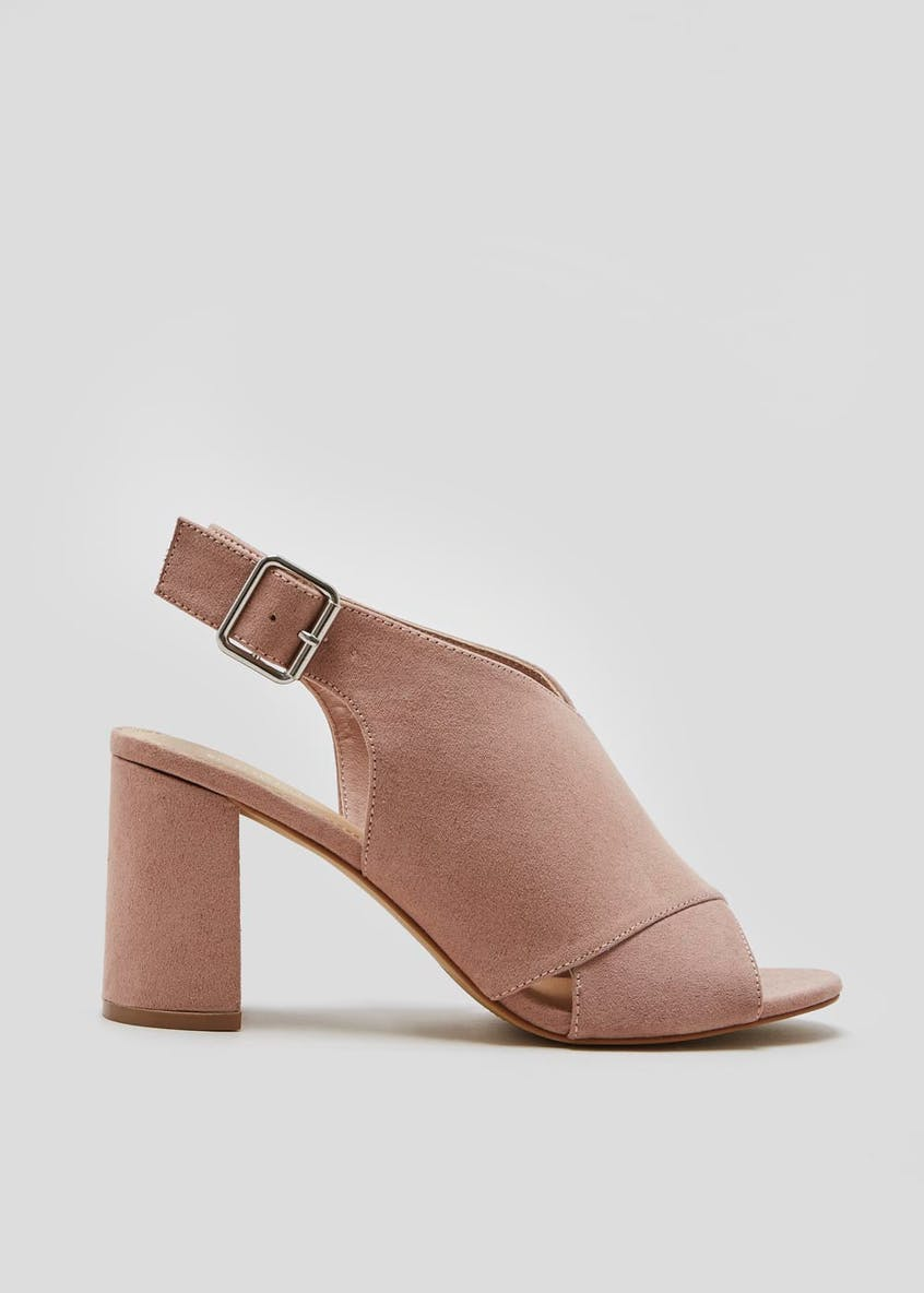 Wide Fit Cross Front Heeled Sandals