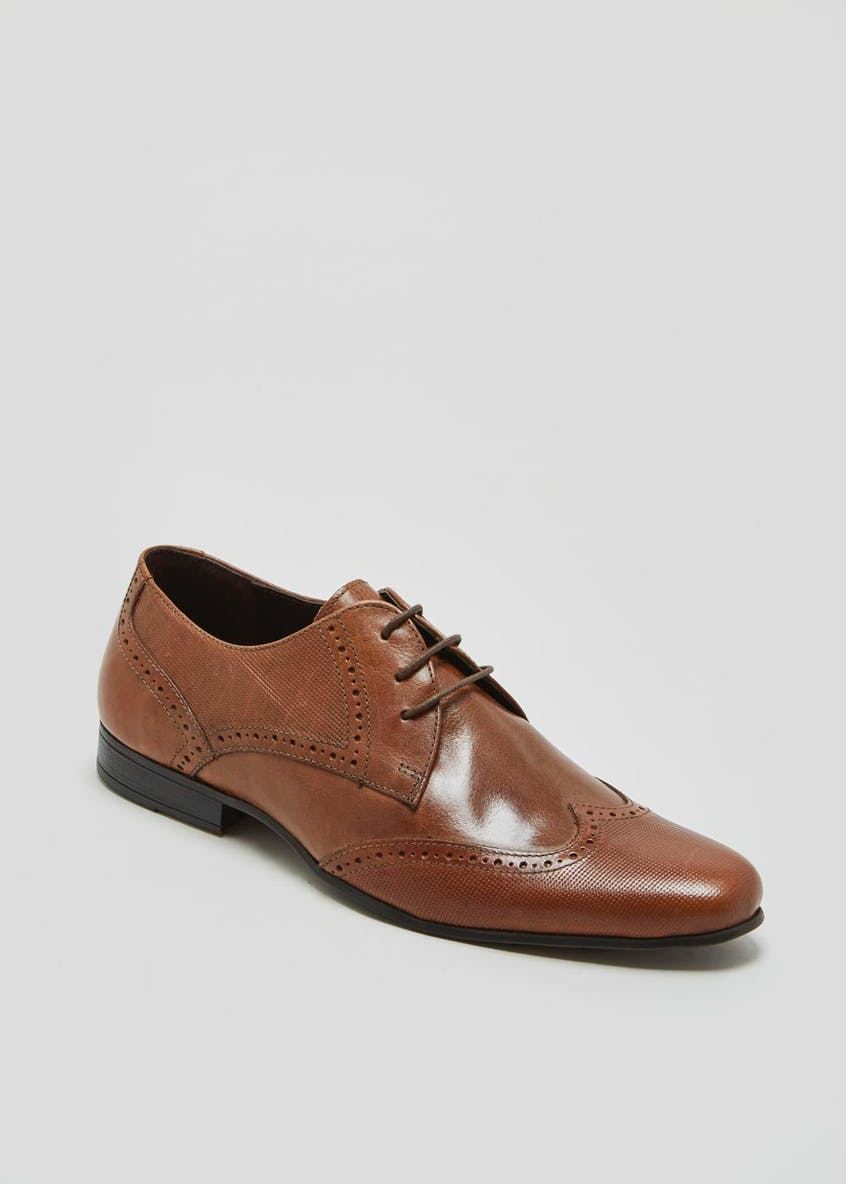 Taylor & Wright Real Leather Wingcap Lace Up Shoes