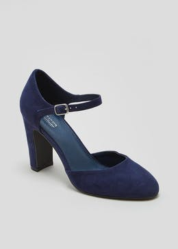 Round Toe Two Part Court Shoes