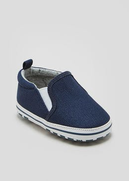 Boys Soft Sole Slip On Baby Shoes (Newborn-18mths)