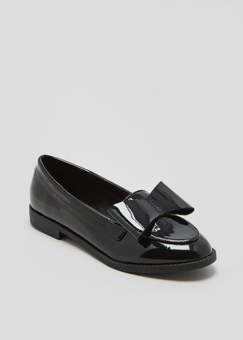 Patent Bow Loafers