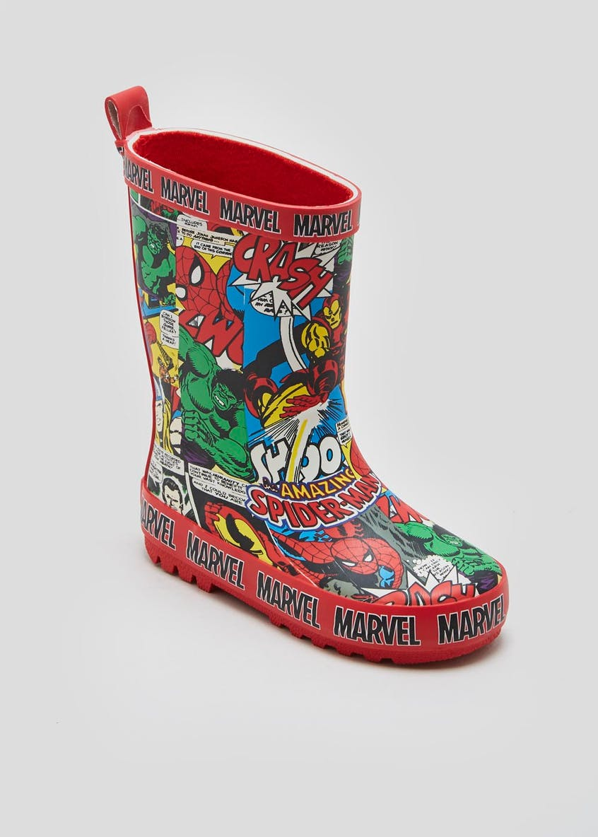 Kids Marvel Comics Wellies (Younger 6-13)