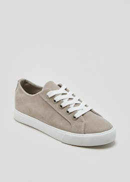 Diamante Eyelet Lace Up Trainers