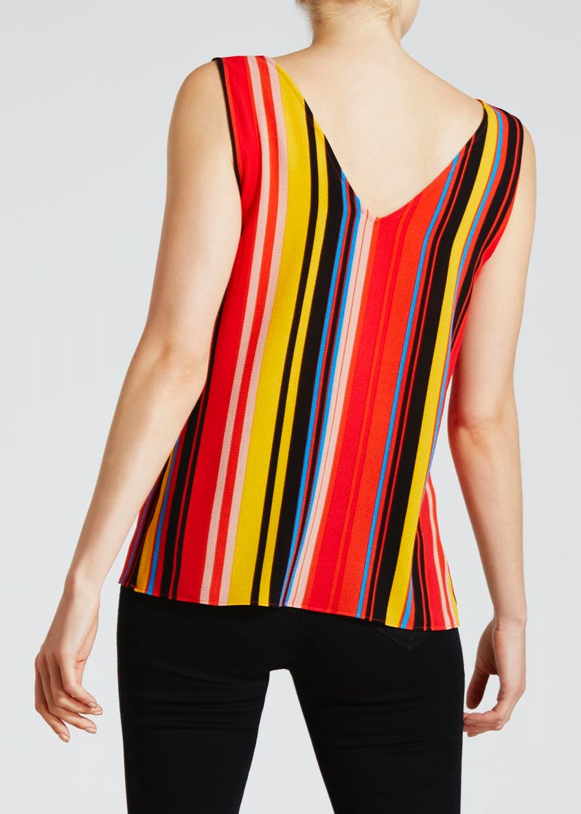 Stripe Ring Detail Vest Top