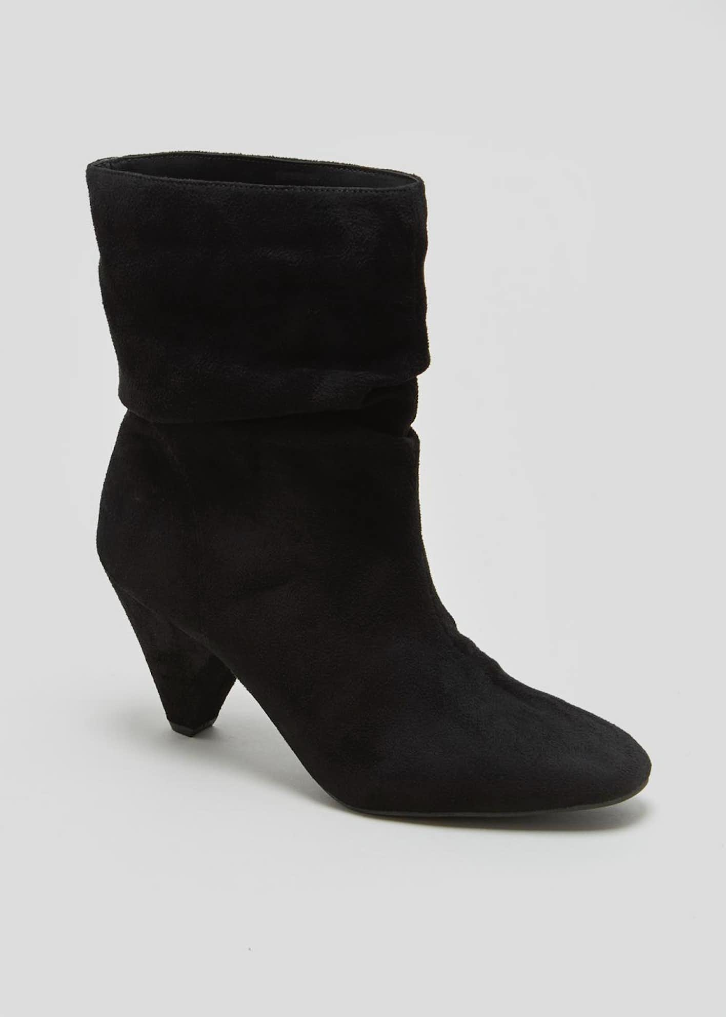 Peg Heel Slouch Boots