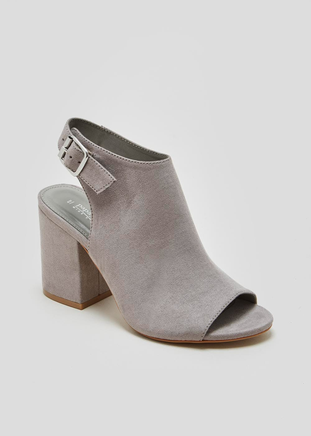Wide Fit Vamp Shoe Boots – Grey – Matalan