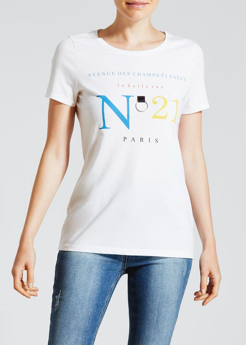 No.21 Paris Slogan T-Shirt
