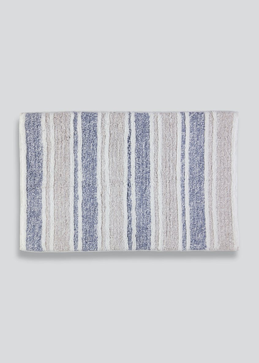 Stripe Stay Fresh Bath Mat (80cm x 50cm)