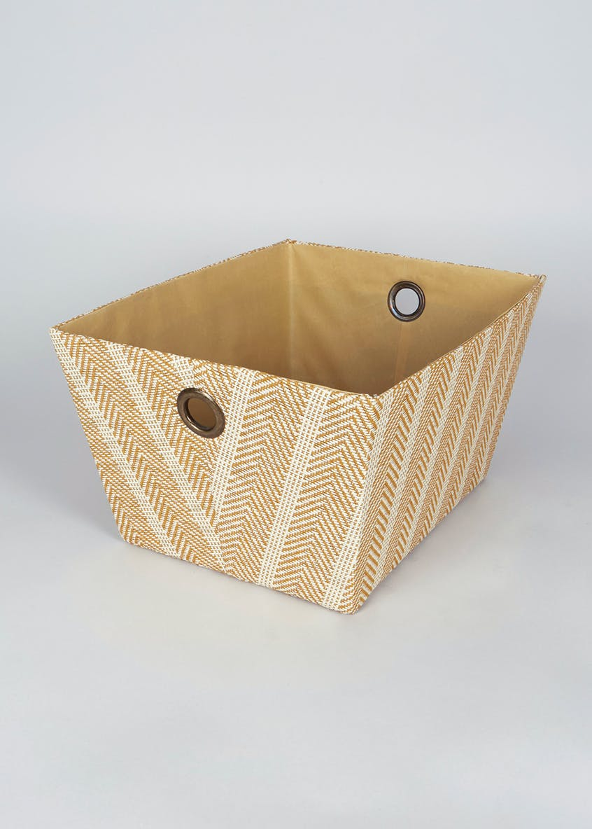 Patterned Fabric Storage Tray (32cm x 24cm x 23cm)