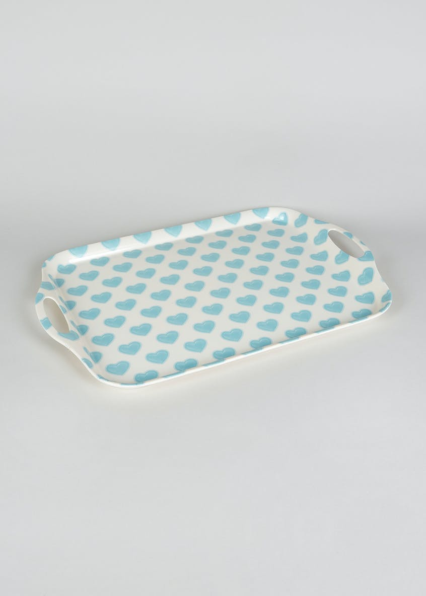 Heart Print Serving Tray (48cm x 32cm)