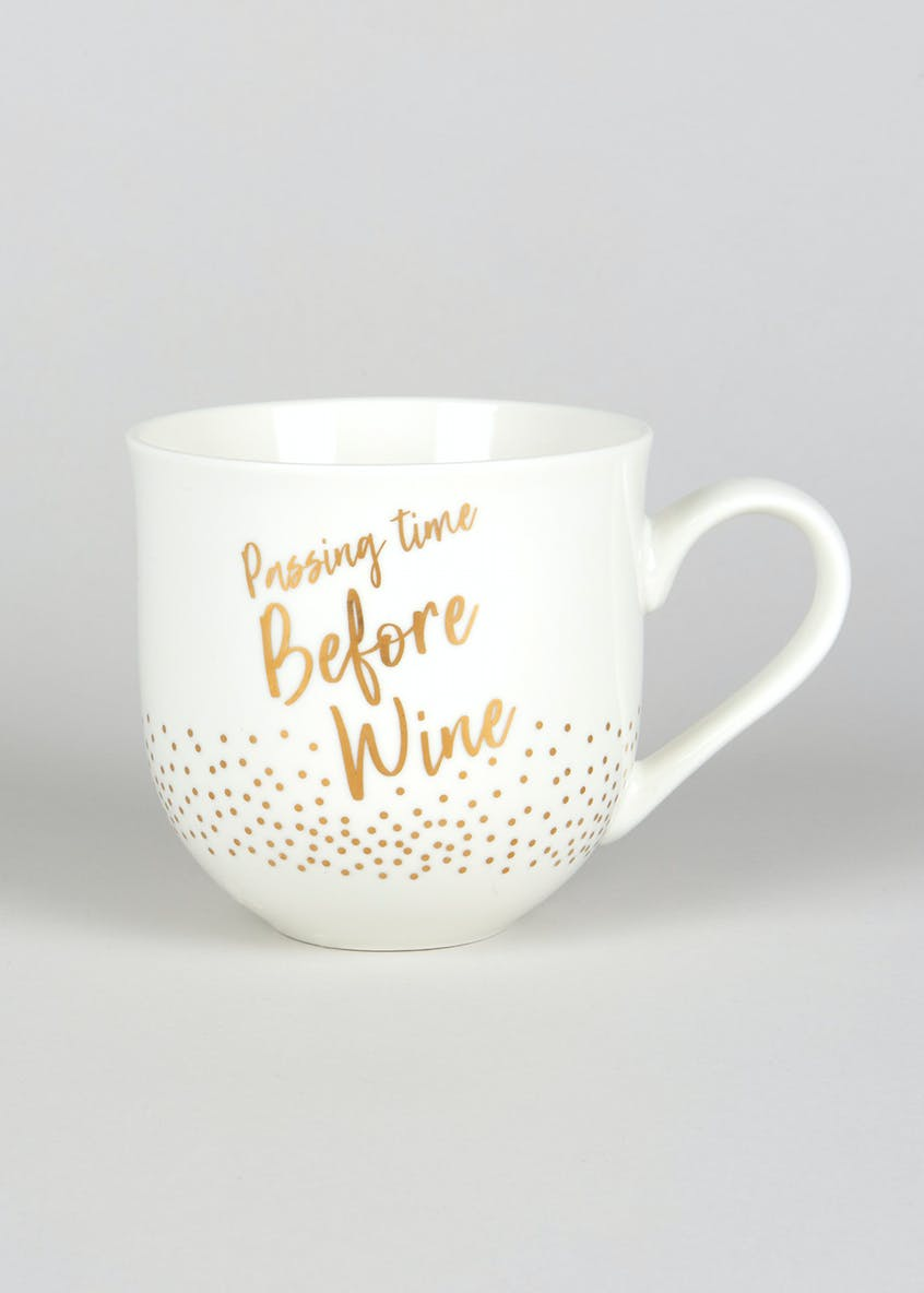 Wine Decal Slogan Mug (10cm x 10cm)