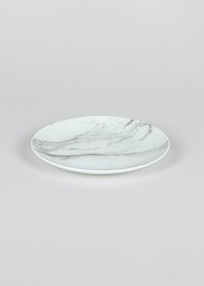 Marble Decal Side Plate (19cm)