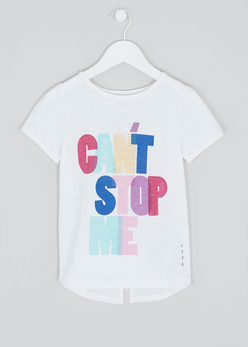 Girls Souluxe Graphic Slogan T-Shirt (4-13yrs)