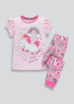 Girls Minions Fluffy the Unicorn Pyjama Set (2-9yrs)
