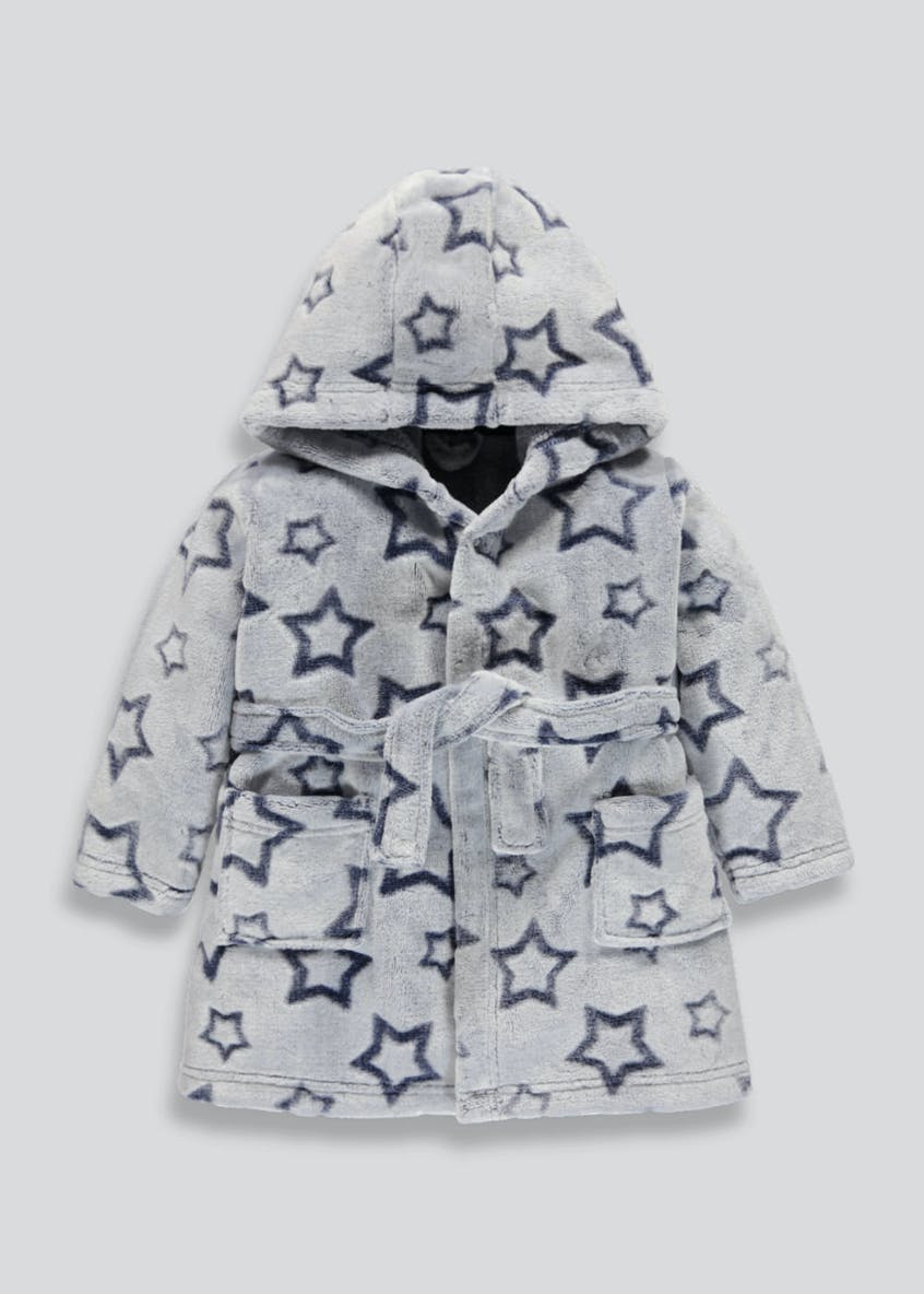 Kids Star Embossed Dressing Gown (9mths-5yrs)