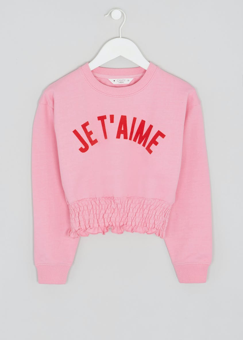 Girls Je T'aime Slogan Sweatshirt (9-16yrs)