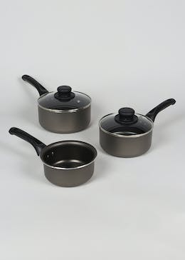 Set of 3 Saucepans (18cm x 17cm x 16cm)