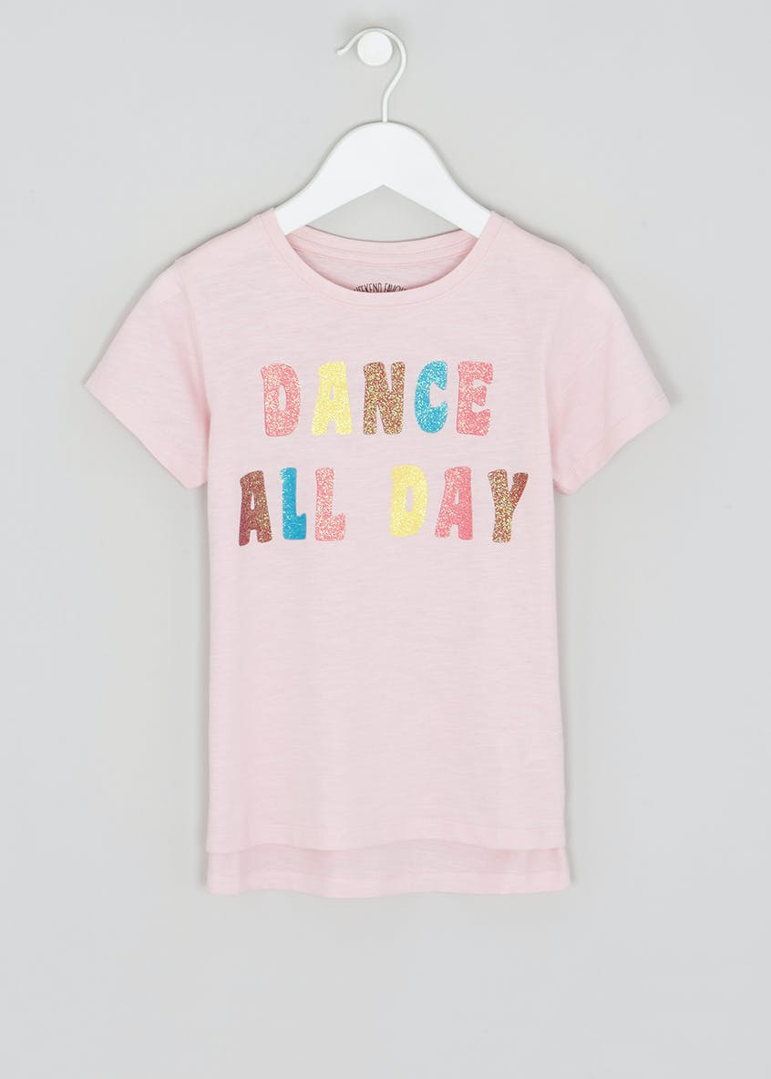 Girls Dance Glitter Slogan T-Shirt (4-13yrs)