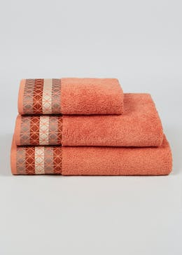 100% Turkish Cotton Embroidered Border Towels