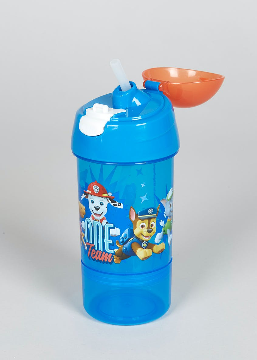 Kids Paw Patrol Water Bottle & Removable Snack Pot (19cm x 7cm)
