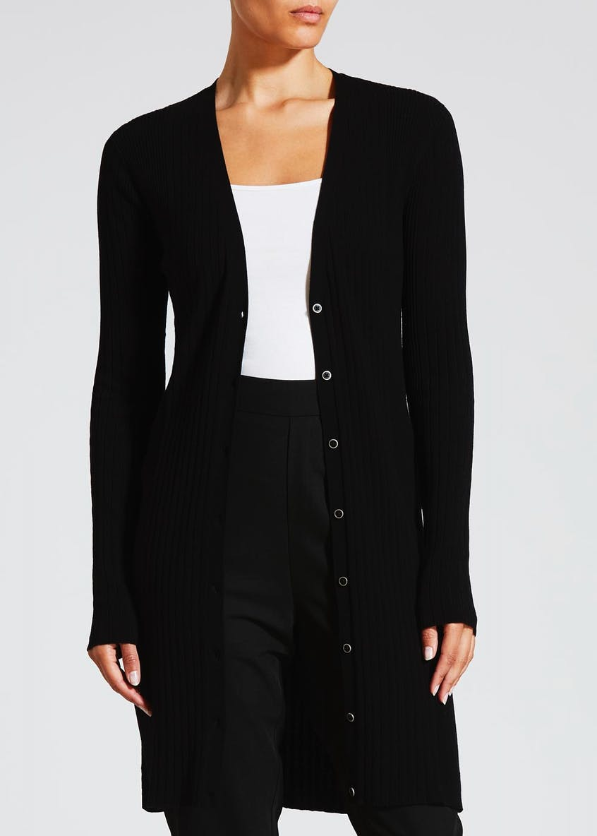 Longline Ribbed Cardigan